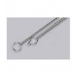 "HS Collar 45cm, short links, for puppy or small breed ""chrome"""